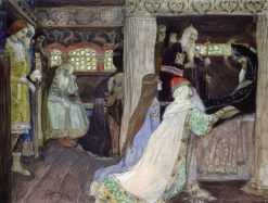 The Death of Prince Alexander Nevsky | Mikhail Vasilevich Nesterov | Oil Painting