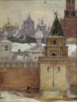 The Kremlin in Winter | Mikhail Vasilevich Nesterov | Oil Painting