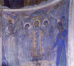The Liturgy of Angels | Mikhail Vasilevich Nesterov | Oil Painting