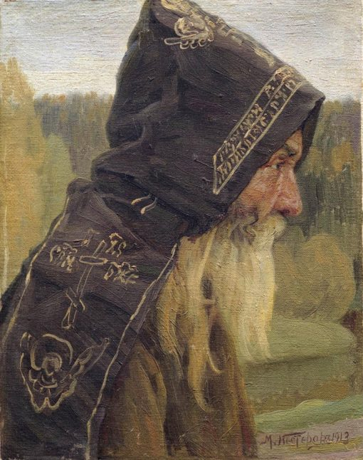 A Monk   Mikhail Vasilevich Nesterov   Oil Painting
