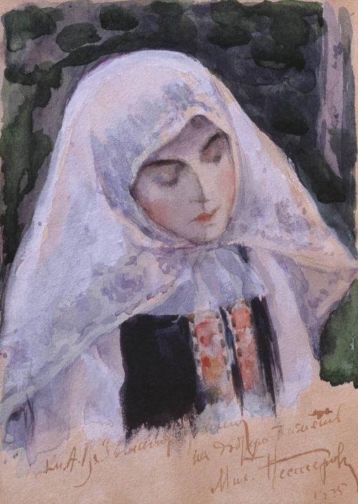 A Nun   Mikhail Vasilevich Nesterov   Oil Painting