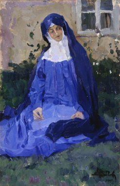 A Nun | Mikhail Vasilevich Nesterov | Oil Painting