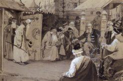 The Boyars Visitors | Mikhail Vasilevich Nesterov | Oil Painting