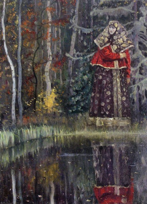 By the Lake | Mikhail Vasilevich Nesterov | Oil Painting