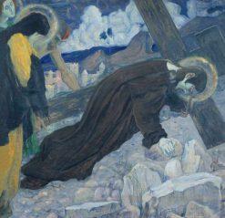 Christ Carrying the Cross | Mikhail Vasilevich Nesterov | Oil Painting
