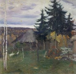 Village in Autumn | Mikhail Vasilevich Nesterov | Oil Painting