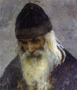 Father Gennady | Mikhail Vasilevich Nesterov | Oil Painting
