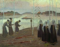 Hermits and Nuns | Mikhail Vasilevich Nesterov | Oil Painting
