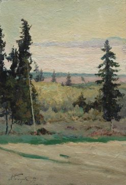 Landscape with Fir Trees | Mikhail Vasilevich Nesterov | Oil Painting