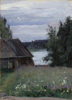 Landscape with a Lake | Mikhail Vasilevich Nesterov | Oil Painting
