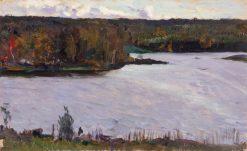Landscape with River | Mikhail Vasilevich Nesterov | Oil Painting