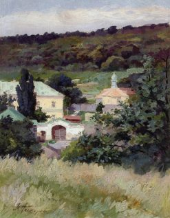 Landscape with a Church | Mikhail Vasilevich Nesterov | Oil Painting