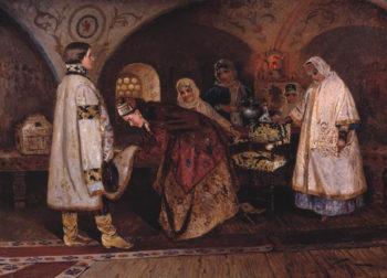 Czar Alexei Mikhailovich Choosing the Bride | Mikhail Vasilevich Nesterov | Oil Painting