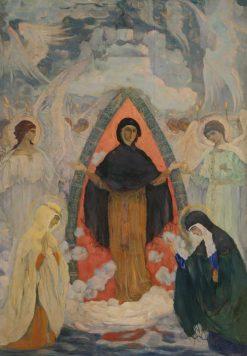 Protection of the Virgin | Mikhail Vasilevich Nesterov | Oil Painting