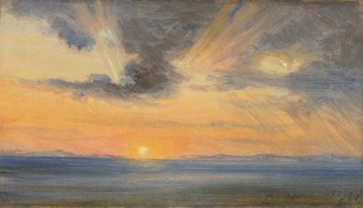 Sunset at Sorrento | Thomas Fearnley | Oil Painting