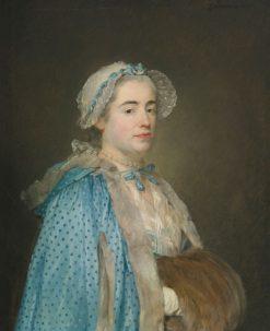 Portrait of a Lady   Jean-Baptiste Perronneau   Oil Painting