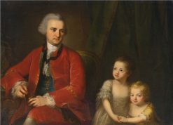 Portrait of John Apthorp of Boston and his daughters | Angelica Kauffmann | Oil Painting