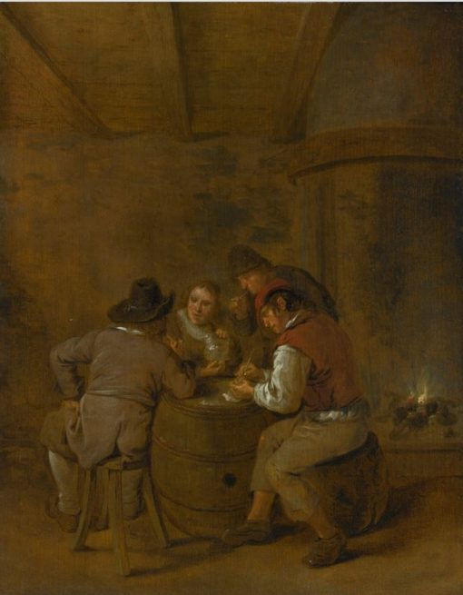 Smokers and Drinkers in a Tavern   Jan Miense Molenaer   Oil Painting