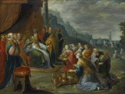 Aaron receiving Gold from the Israelites | Frans Francken the Younger | Oil Painting