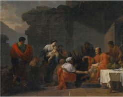 Belisarius Receiving Hospitality from a Peasant | Pierre Peyron | Oil Painting
