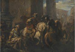 Belisarius Begging at the Gates of Rome | Carle van Loo | Oil Painting