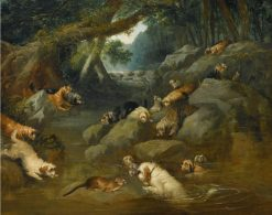 An Otter Hunt | Philip Reinagle | Oil Painting