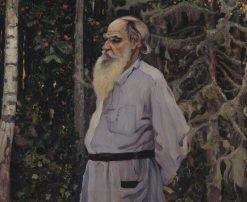 Portrait of Leo Tolstoy | Mikhail Vasilevich Nesterov | Oil Painting