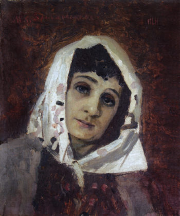 Portrait of Maria Zankovetskaya | Mikhail Vasilevich Nesterov | Oil Painting