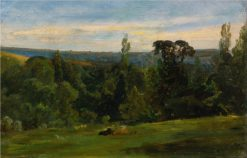 View of Chaville | Paul Huet | Oil Painting
