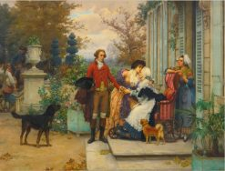 A Fond Farewell | Pierre Outin | Oil Painting