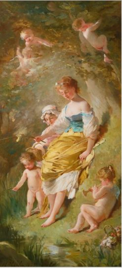Les petits pêcheurs | Charles Chaplin | Oil Painting