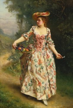 A Walk in the Park | Gustave Jean Jacquet | Oil Painting