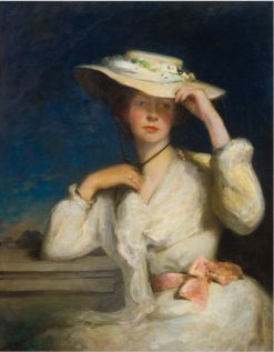 Symphony in Pink and White | George Elgar Hicks | Oil Painting
