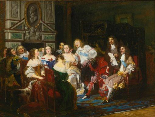 Une lecture chez Madame de Sevigne | Joseph-Nicolas Robert-Fleury | Oil Painting