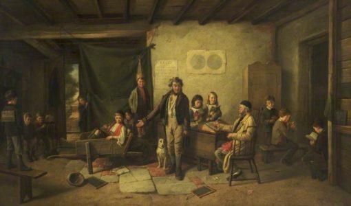 The School Room   Charles Hunt   Oil Painting