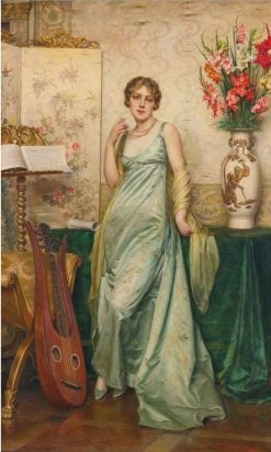 A Pause in the Music   Charles Joseph Frederick Soulacroix   Oil Painting