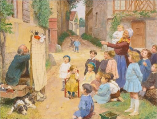 Les Marionettes | Victor Gabriel Gilbert | Oil Painting