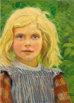Portrait of a Young Girl | Paul-Gustave Fischer | Oil Painting