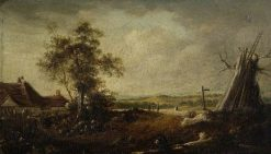 Landscape with Figures | Philip Reinagle | Oil Painting