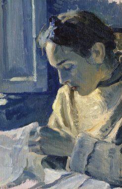 Portrait of N.M. Nesterova | Mikhail Vasilevich Nesterov | Oil Painting
