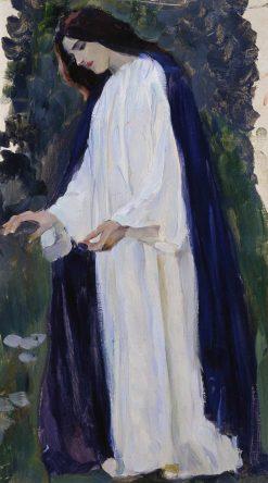 Portrait of Olga Nesterova | Mikhail Vasilevich Nesterov | Oil Painting
