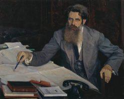 Portrait of Otto Schmidt | Mikhail Vasilevich Nesterov | Oil Painting
