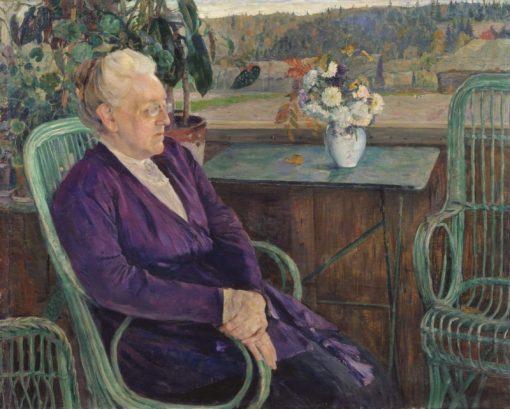 Portrait of S.I. Tyutcheva | Mikhail Vasilevich Nesterov | Oil Painting