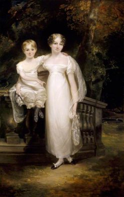 Mrs Trafford with a Young Child | Philip Reinagle | Oil Painting