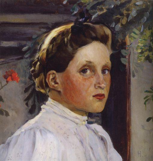 Portrait of Tatiana Yashvil   Mikhail Vasilevich Nesterov   Oil Painting