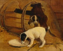 Puppies | Samuel Fulton | Oil Painting