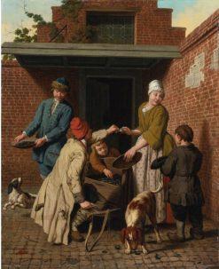 The Mussel Seller | Jan Josef Horemans the Elder | Oil Painting