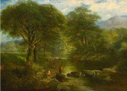 A Placid Stream | Thomas Creswick | Oil Painting