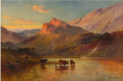 Sunset in the Scottish Highlands | Alfred de Breanski