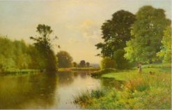 A Reach on the Upper Thames | Ernest Parton | Oil Painting